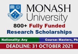 monash university scholarships in australia