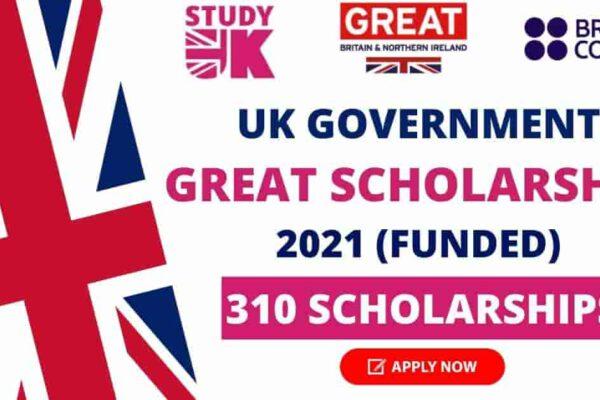 Great Scholarship in UK 2021